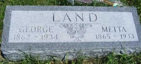 LAND, GEORGE - Frontier County, Nebraska | GEORGE LAND - Nebraska Gravestone Photos