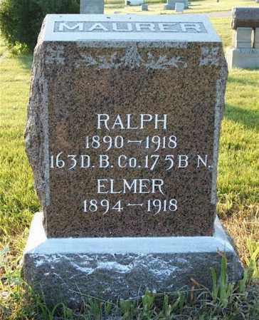 MAURER, ELMER - Frontier County, Nebraska   ELMER MAURER - Nebraska Gravestone Photos