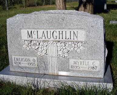 MCLAUGHLIN, EMERSON O. - Frontier County, Nebraska   EMERSON O. MCLAUGHLIN - Nebraska Gravestone Photos