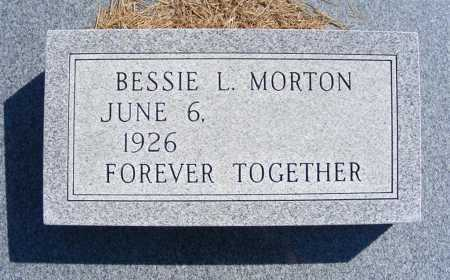 MORTON, BESSIE L. - Frontier County, Nebraska   BESSIE L. MORTON - Nebraska Gravestone Photos