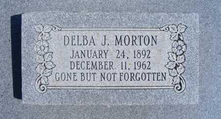 MORTON, DELBA J. - Frontier County, Nebraska | DELBA J. MORTON - Nebraska Gravestone Photos