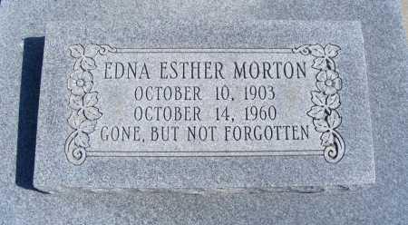 MORTON, EDNA ESTHER - Frontier County, Nebraska | EDNA ESTHER MORTON - Nebraska Gravestone Photos