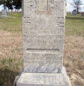 MORTON, G. A. - Frontier County, Nebraska | G. A. MORTON - Nebraska Gravestone Photos