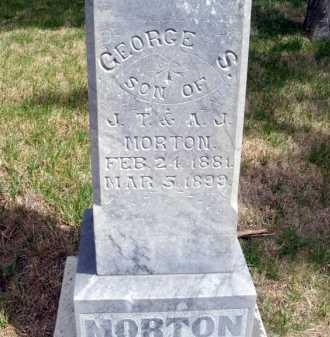 MORTON, GEORGE S. - Frontier County, Nebraska   GEORGE S. MORTON - Nebraska Gravestone Photos