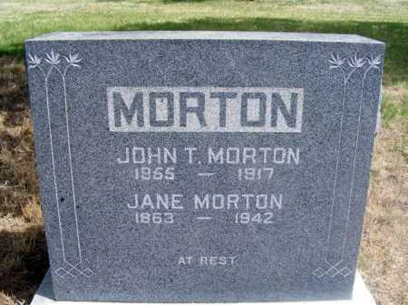 MORTON, JOHN T. - Frontier County, Nebraska | JOHN T. MORTON - Nebraska Gravestone Photos