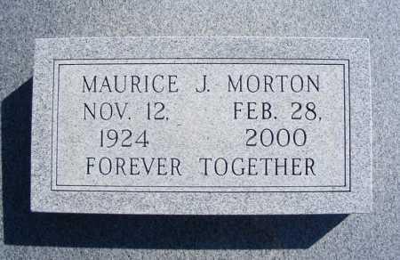 MORTON, MAURICE J. - Frontier County, Nebraska | MAURICE J. MORTON - Nebraska Gravestone Photos
