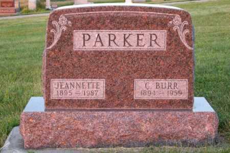 PARKER, JEANNETTE - Frontier County, Nebraska | JEANNETTE PARKER - Nebraska Gravestone Photos
