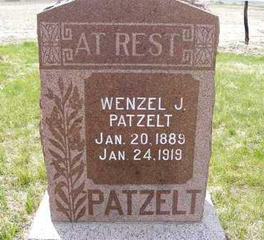 PATZELT, WENZEL J. - Frontier County, Nebraska | WENZEL J. PATZELT - Nebraska Gravestone Photos
