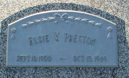PRESTON, ELSIE V. - Frontier County, Nebraska | ELSIE V. PRESTON - Nebraska Gravestone Photos