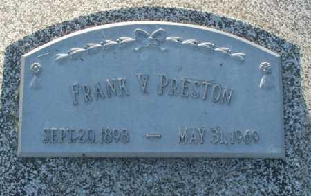 PRESTON, FRANK V. - Frontier County, Nebraska | FRANK V. PRESTON - Nebraska Gravestone Photos