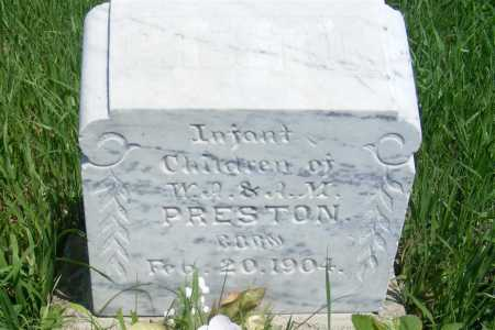 PRESTON, INFANT CHILDREN - Frontier County, Nebraska | INFANT CHILDREN PRESTON - Nebraska Gravestone Photos