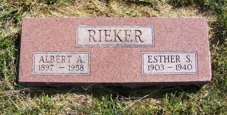 RIEKER, ESTHER S. - Frontier County, Nebraska   ESTHER S. RIEKER - Nebraska Gravestone Photos