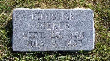 RIEKER, CHRISTIAN - Frontier County, Nebraska | CHRISTIAN RIEKER - Nebraska Gravestone Photos