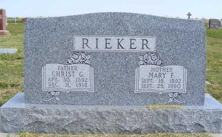 RIEKER, CHRIST G. - Frontier County, Nebraska | CHRIST G. RIEKER - Nebraska Gravestone Photos
