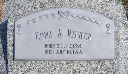 RIEKER, EDNA A. - Frontier County, Nebraska | EDNA A. RIEKER - Nebraska Gravestone Photos