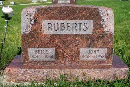 ROBERTS, BELLE - Frontier County, Nebraska | BELLE ROBERTS - Nebraska Gravestone Photos