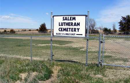 *SALEM LUTHERAN CEMETERY, ENTRANCE - Frontier County, Nebraska | ENTRANCE *SALEM LUTHERAN CEMETERY - Nebraska Gravestone Photos