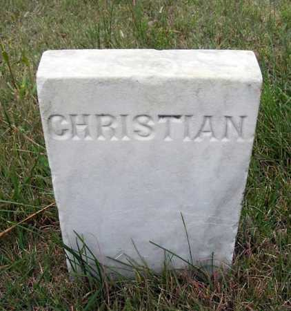 STAUFFER, CHRISTIAN - Frontier County, Nebraska | CHRISTIAN STAUFFER - Nebraska Gravestone Photos