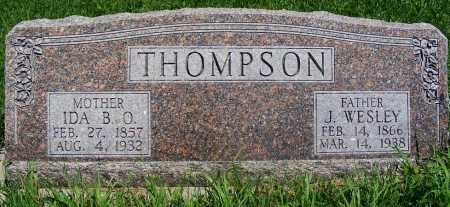 THOMPSON, J. WESLEY - Frontier County, Nebraska | J. WESLEY THOMPSON - Nebraska Gravestone Photos