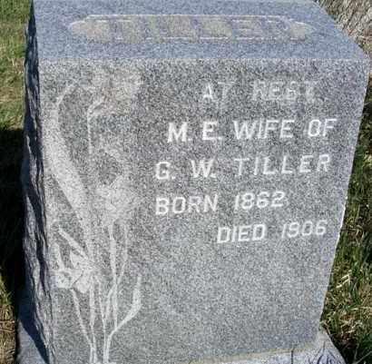 TILLER, M. E. - Frontier County, Nebraska   M. E. TILLER - Nebraska Gravestone Photos