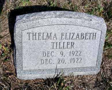 TILLER, THELMA ELIZABETH - Frontier County, Nebraska | THELMA ELIZABETH TILLER - Nebraska Gravestone Photos
