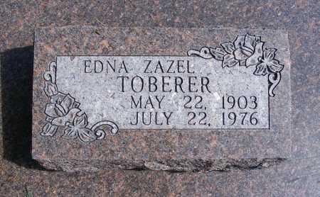 TOBERER, EDNA ZAZEL - Frontier County, Nebraska   EDNA ZAZEL TOBERER - Nebraska Gravestone Photos