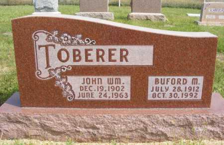 TOBERER, JOHN WM. - Frontier County, Nebraska | JOHN WM. TOBERER - Nebraska Gravestone Photos