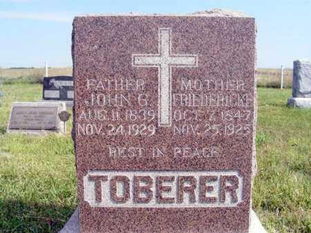 TOBERER, JOHN G. - Frontier County, Nebraska | JOHN G. TOBERER - Nebraska Gravestone Photos