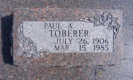 TOBERER, PAUL A. - Frontier County, Nebraska | PAUL A. TOBERER - Nebraska Gravestone Photos