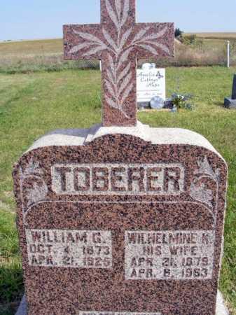 TOBERER, WILHELMINE K. - Frontier County, Nebraska | WILHELMINE K. TOBERER - Nebraska Gravestone Photos