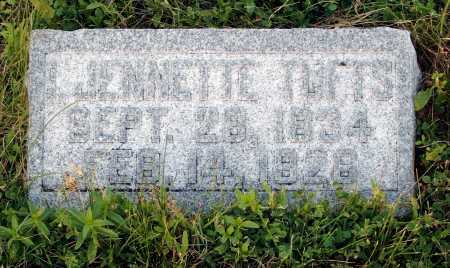 TUFTS, I. JENNETTE - Frontier County, Nebraska | I. JENNETTE TUFTS - Nebraska Gravestone Photos
