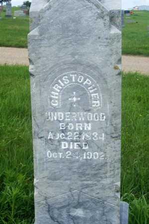 UNDERWOOD, CHRISTOPHER - Frontier County, Nebraska | CHRISTOPHER UNDERWOOD - Nebraska Gravestone Photos