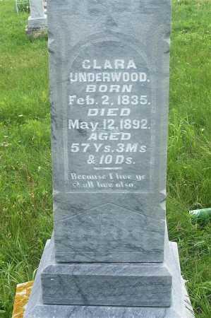 UNDERWOOD, CLARA - Frontier County, Nebraska | CLARA UNDERWOOD - Nebraska Gravestone Photos