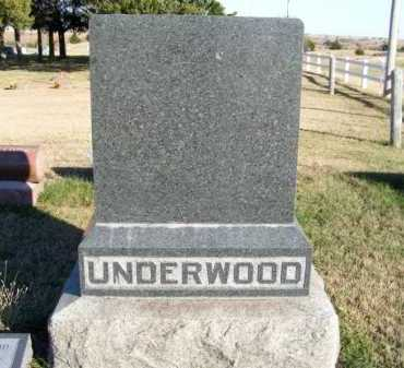 UNDERWOOD, FAMILY - Frontier County, Nebraska | FAMILY UNDERWOOD - Nebraska Gravestone Photos