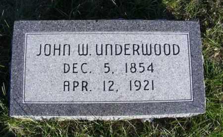 UNDERWOOD, JOHN W. - Frontier County, Nebraska | JOHN W. UNDERWOOD - Nebraska Gravestone Photos