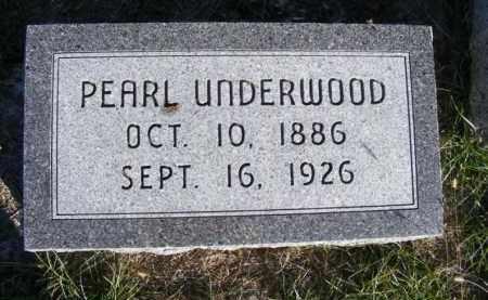UNDERWOOD, PEARL - Frontier County, Nebraska | PEARL UNDERWOOD - Nebraska Gravestone Photos