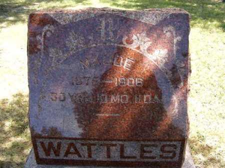 WATTLES, MAUDE - Frontier County, Nebraska | MAUDE WATTLES - Nebraska Gravestone Photos