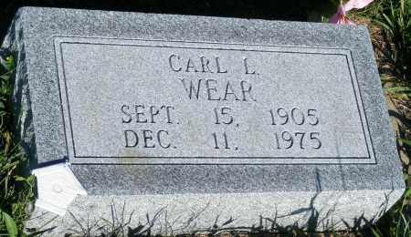 WEAR, CARL L. - Frontier County, Nebraska | CARL L. WEAR - Nebraska Gravestone Photos