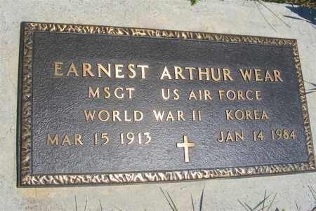 WEAR, EARNEST ARTHUR - Frontier County, Nebraska   EARNEST ARTHUR WEAR - Nebraska Gravestone Photos