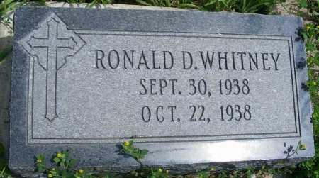 WHITNEY, RONALD D. - Frontier County, Nebraska | RONALD D. WHITNEY - Nebraska Gravestone Photos