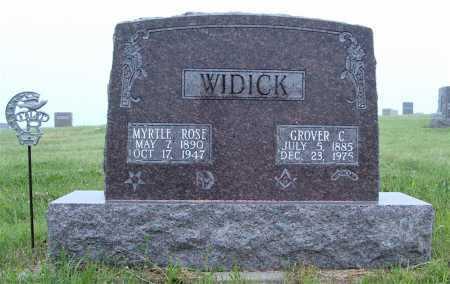 WIDICK, MYRTLE ROSE - Frontier County, Nebraska | MYRTLE ROSE WIDICK - Nebraska Gravestone Photos