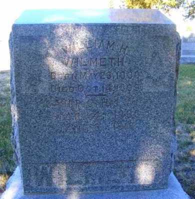 WILMETH, WILLIAM H. - Frontier County, Nebraska | WILLIAM H. WILMETH - Nebraska Gravestone Photos