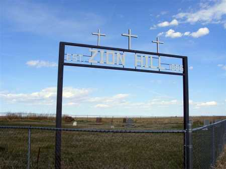 *ZION HILL CEMETERY, SIGN - Frontier County, Nebraska | SIGN *ZION HILL CEMETERY - Nebraska Gravestone Photos