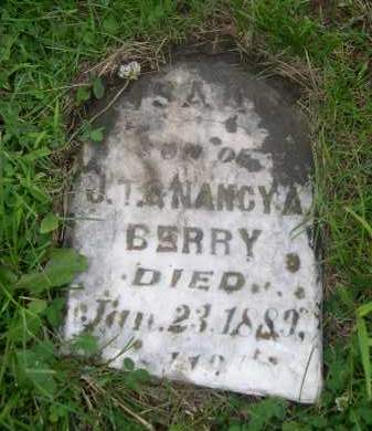 BERRY, SON OF J.T. & NANCY A. - Gage County, Nebraska | SON OF J.T. & NANCY A. BERRY - Nebraska Gravestone Photos