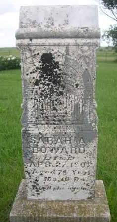 BOWARD, SARAH A. - Gage County, Nebraska | SARAH A. BOWARD - Nebraska Gravestone Photos