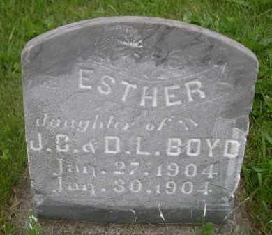 BOYD, ESTHER - Gage County, Nebraska | ESTHER BOYD - Nebraska Gravestone Photos