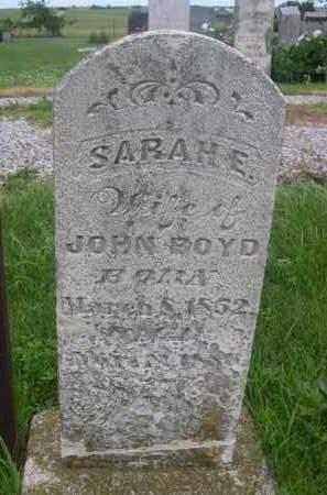BOYD, SARAH E. - Gage County, Nebraska   SARAH E. BOYD - Nebraska Gravestone Photos