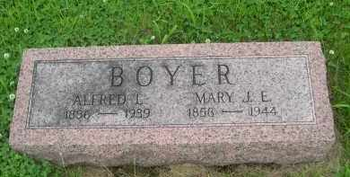 BOYER, MARY J. E. - Gage County, Nebraska | MARY J. E. BOYER - Nebraska Gravestone Photos