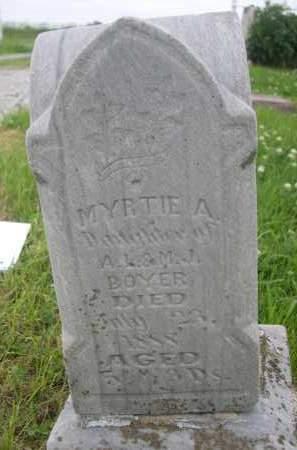 BOYER, MYRTIE A. - Gage County, Nebraska   MYRTIE A. BOYER - Nebraska Gravestone Photos