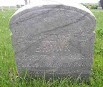 BROWN, CLARENCE - Gage County, Nebraska | CLARENCE BROWN - Nebraska Gravestone Photos
